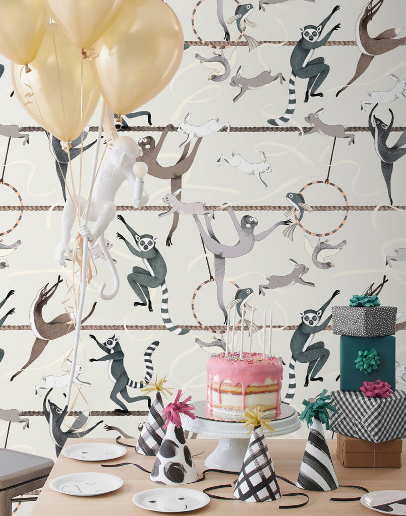 Balancing Act Cream wallpaper | Allira Tee | Hygge & West