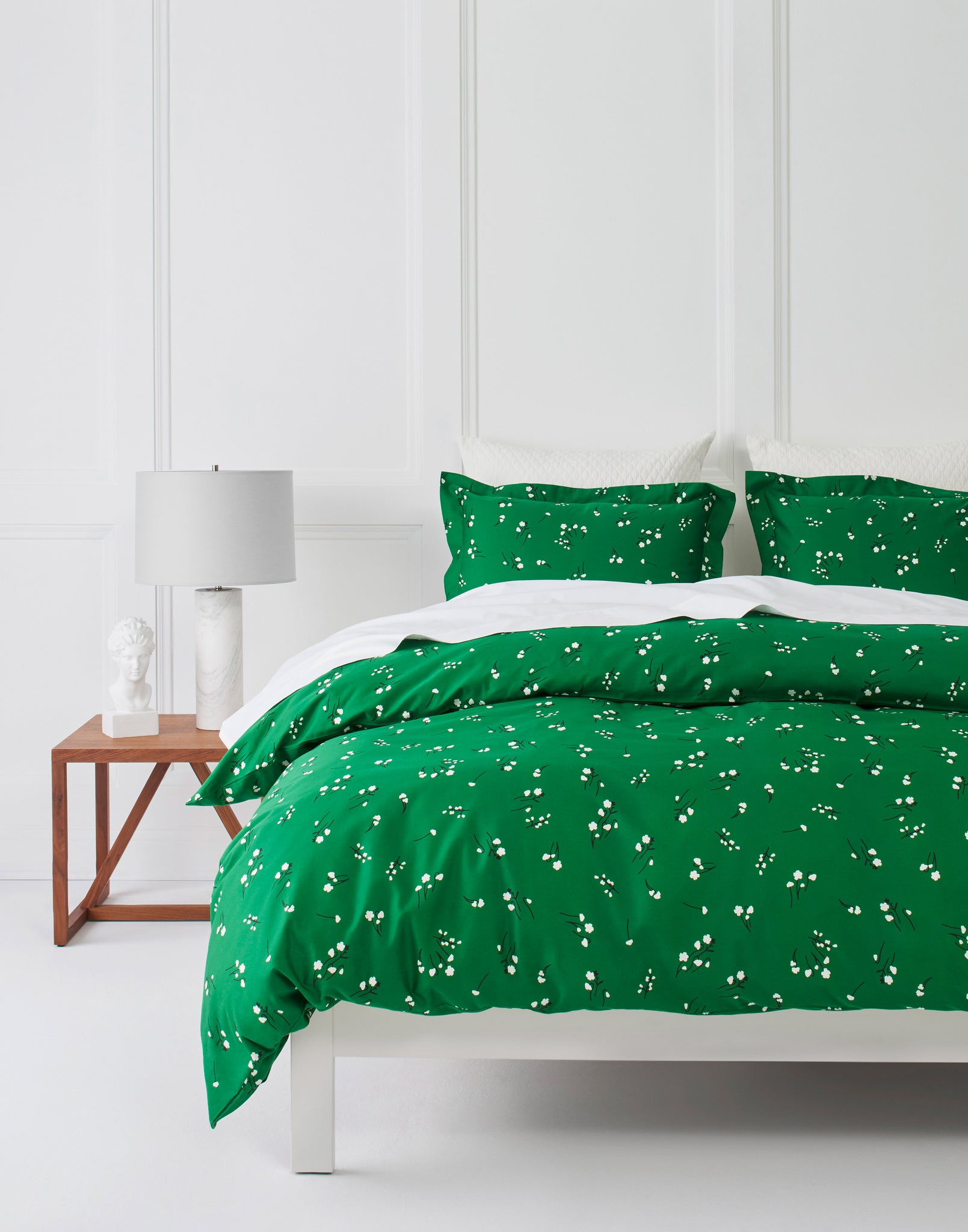 Wildflower Emerald bedding | Charlotte Janvier | Hygge & West