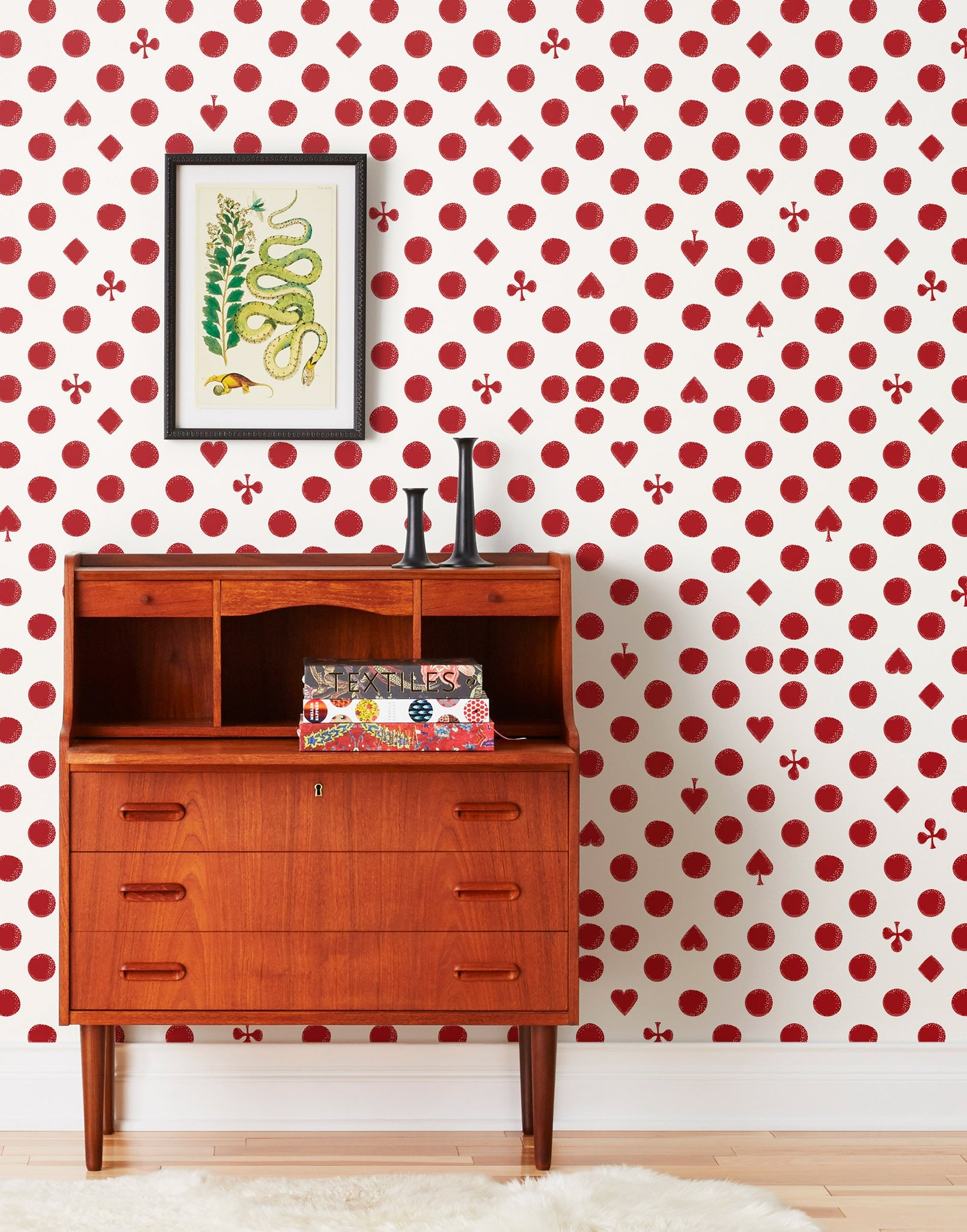 Spring/Summer '19 collection | Cards Red wallpaper | Charlotte Janvier | Hygge & West