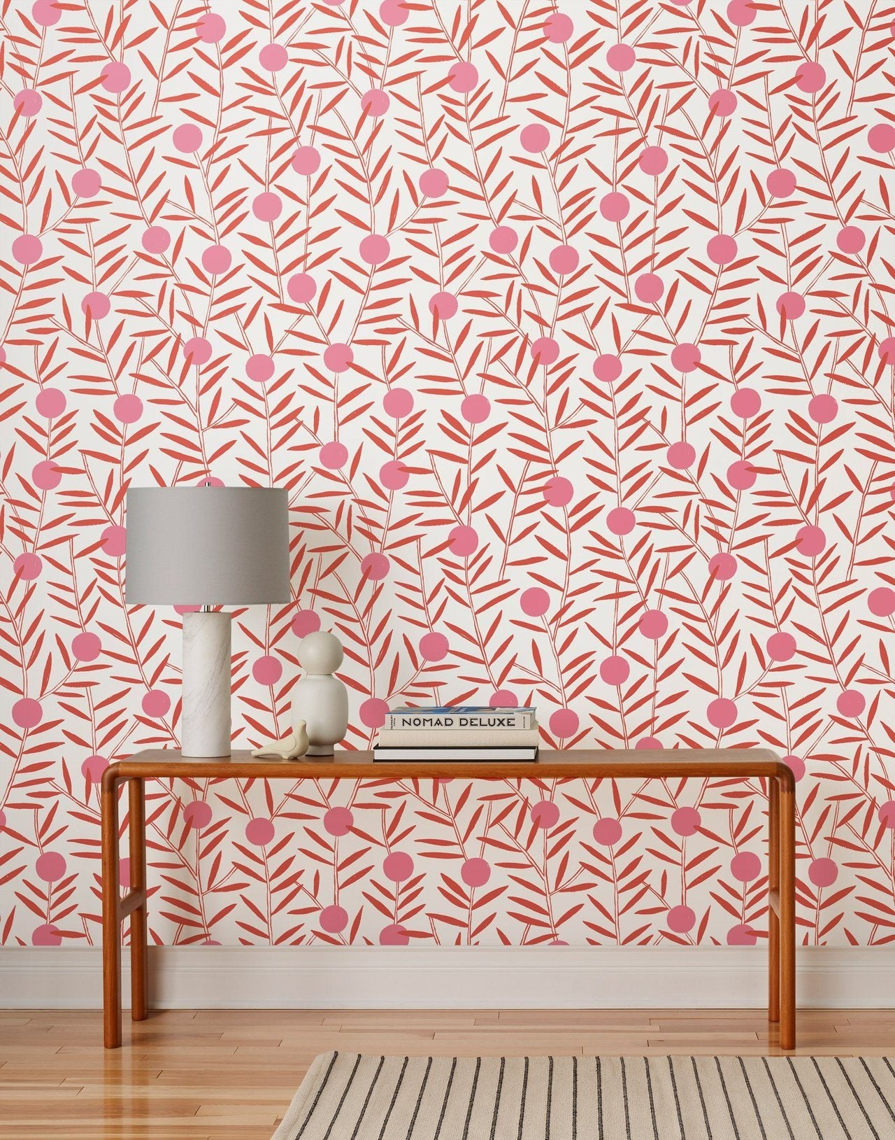 Pattern Players | Emily Isabella | Bloom Poppy wallpaper | Hygge & West