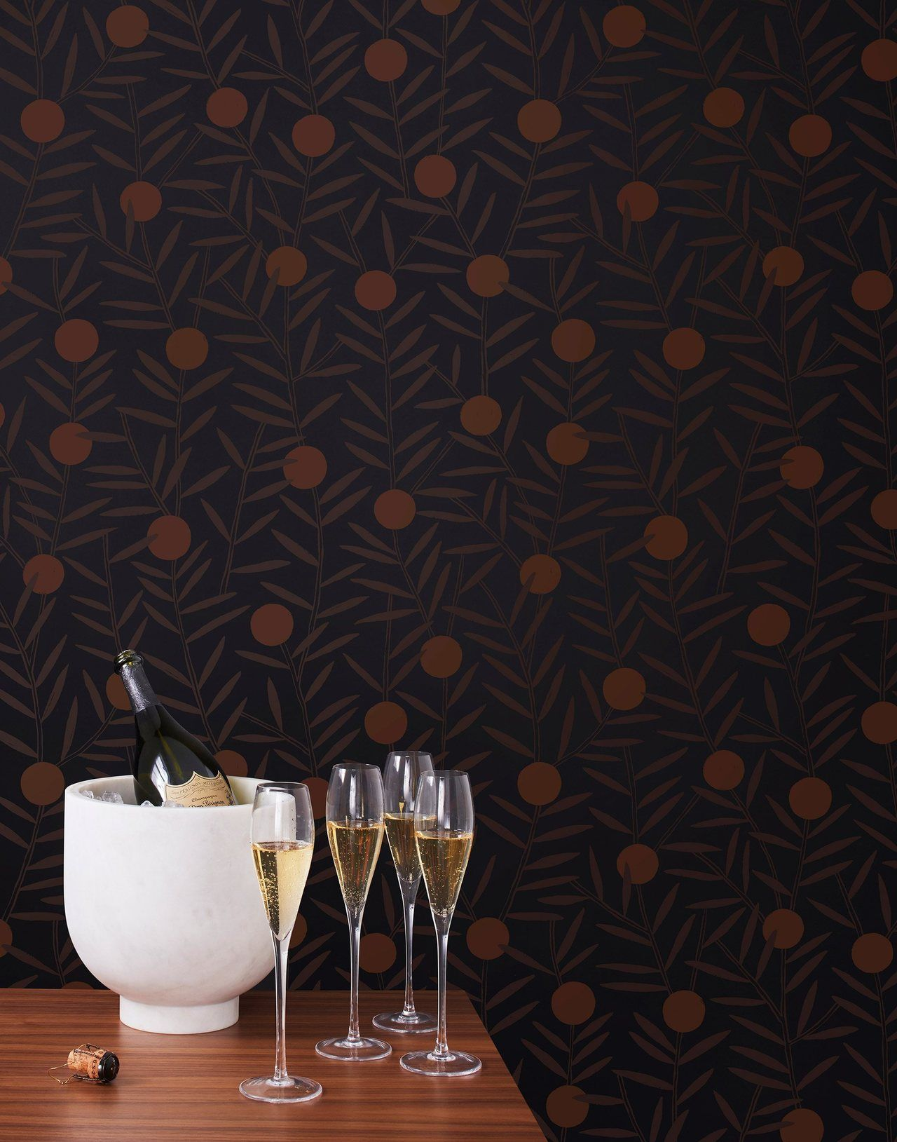 Pattern Players | Emily Isabella | Bloom Ebony wallpaper | Hygge & West