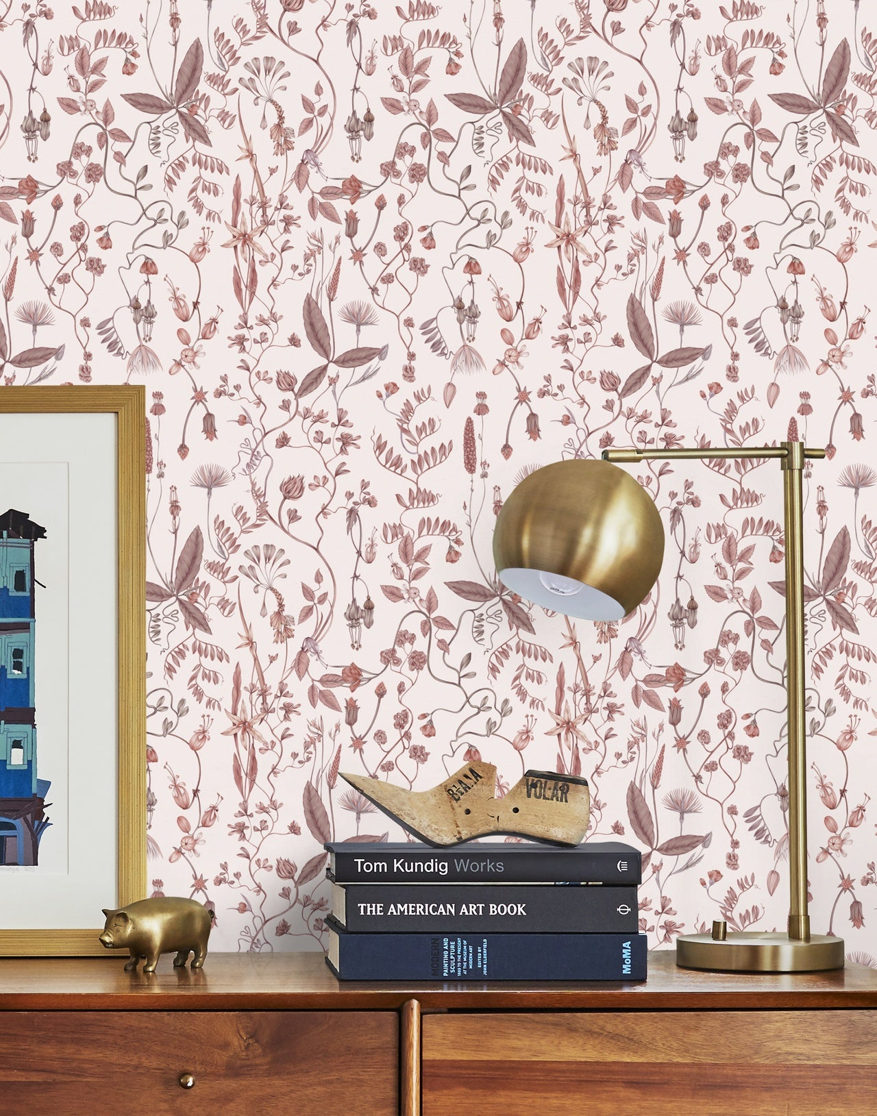 Sonoma Blush wallpaper | Lisel Jane Ashlock collection | modern floral wallpapers and murals | Hygge & West