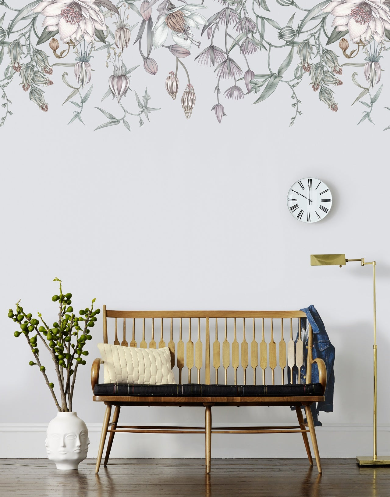 Canopy Cloud Gray mural | Lisel Jane Ashlock collection | modern floral wallpapers and murals | Hygge & West