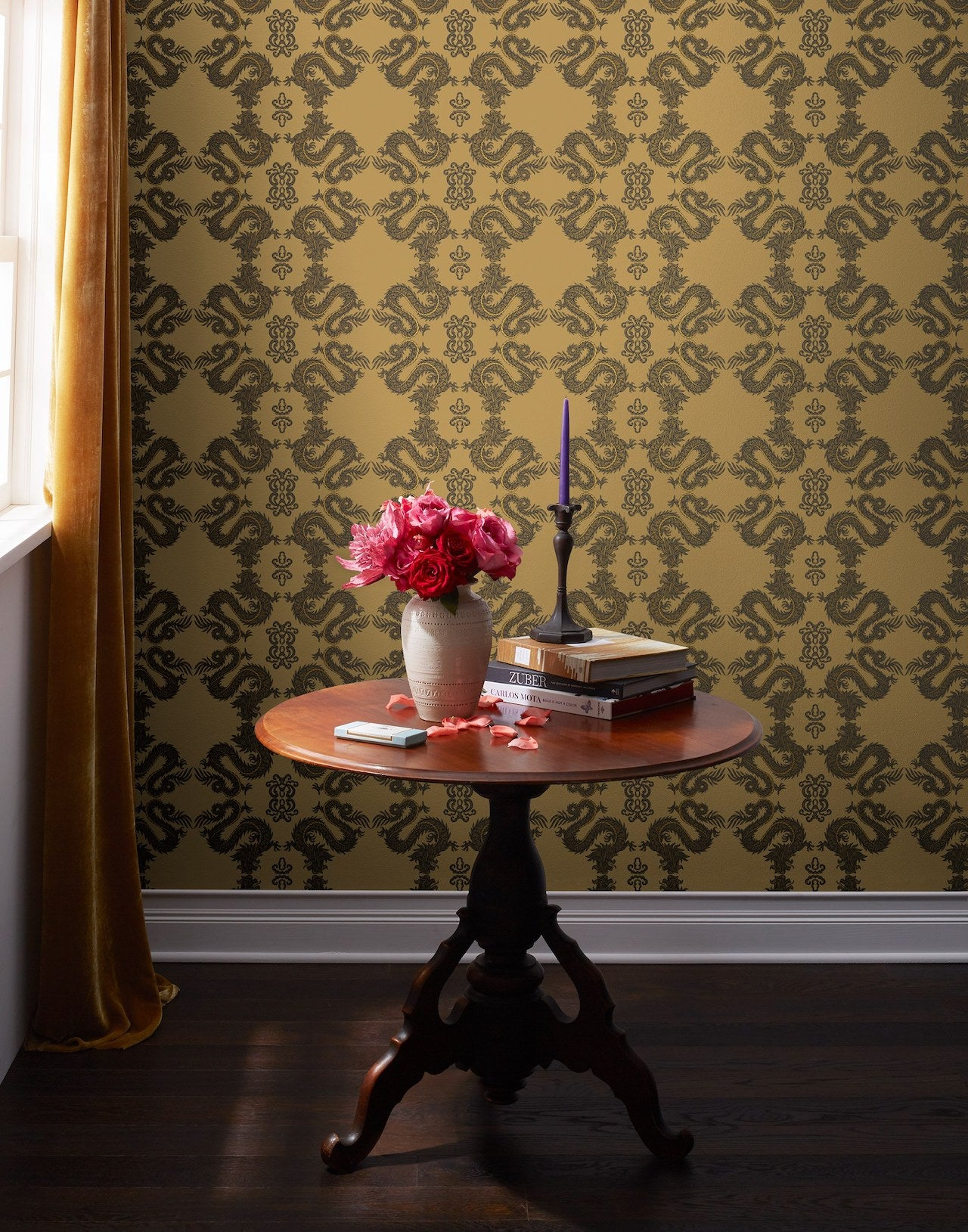 Pattern Players: PATCH NYC | Fortune Butterscotch wallpaper | Hygge & West