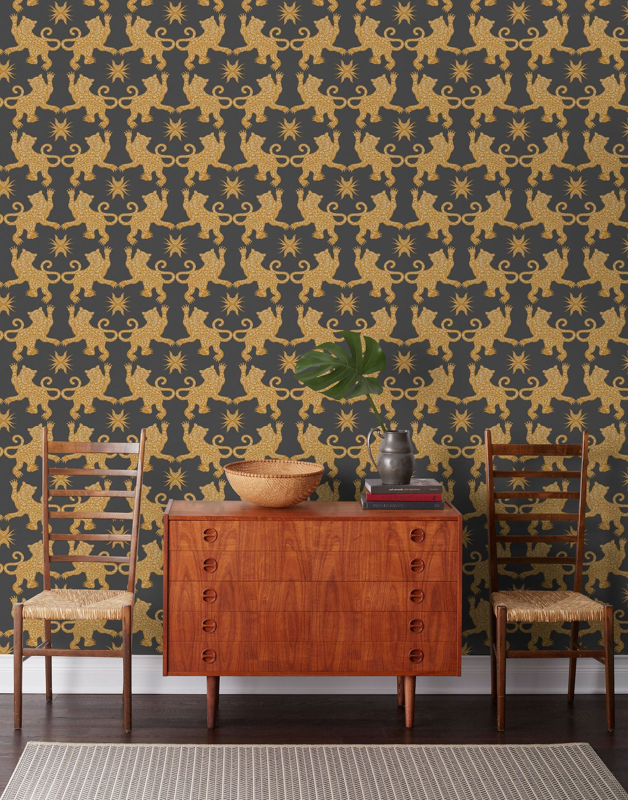 Pattern Players: PATCH NYC | Palace Charcoal wallpaper | Hygge & West