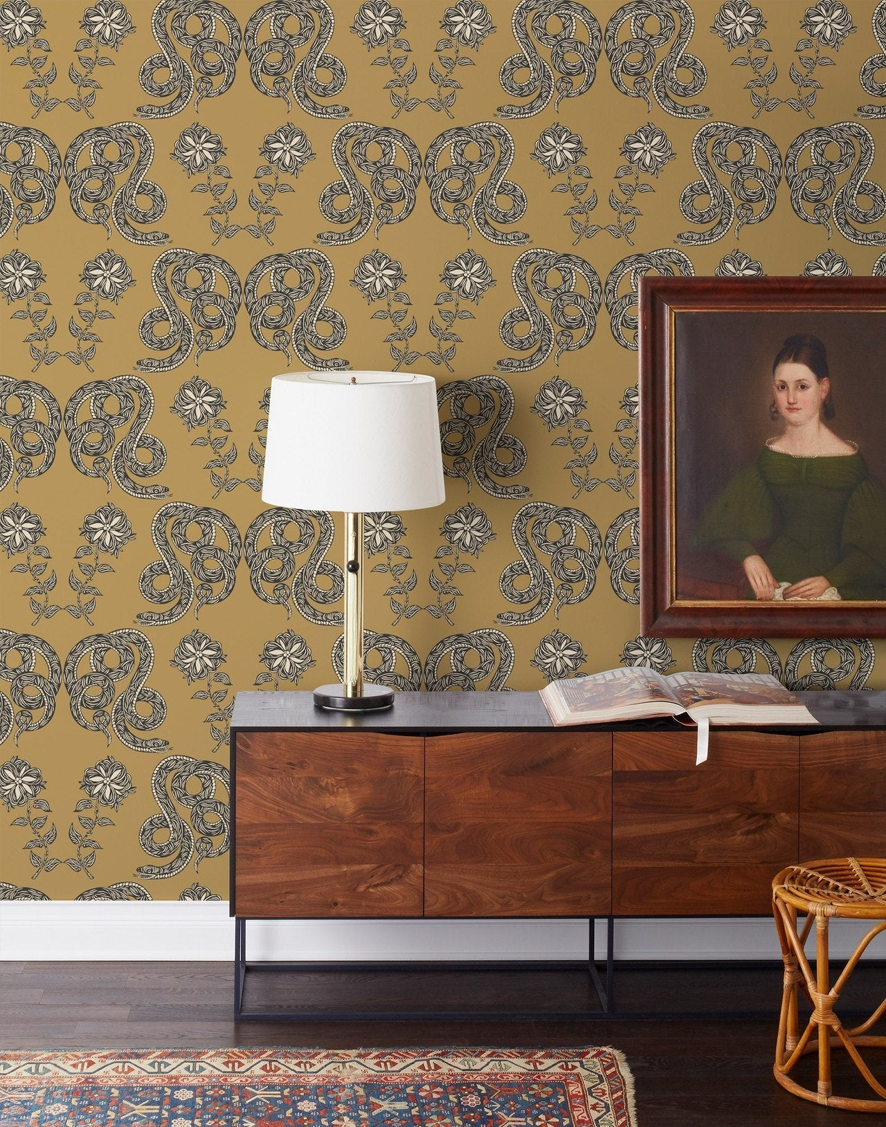 Product + Pattern: Scott McGlasson | Woodsport | Serpentine Butterscotch wallpaper | PATCH NYC | Hygge & West