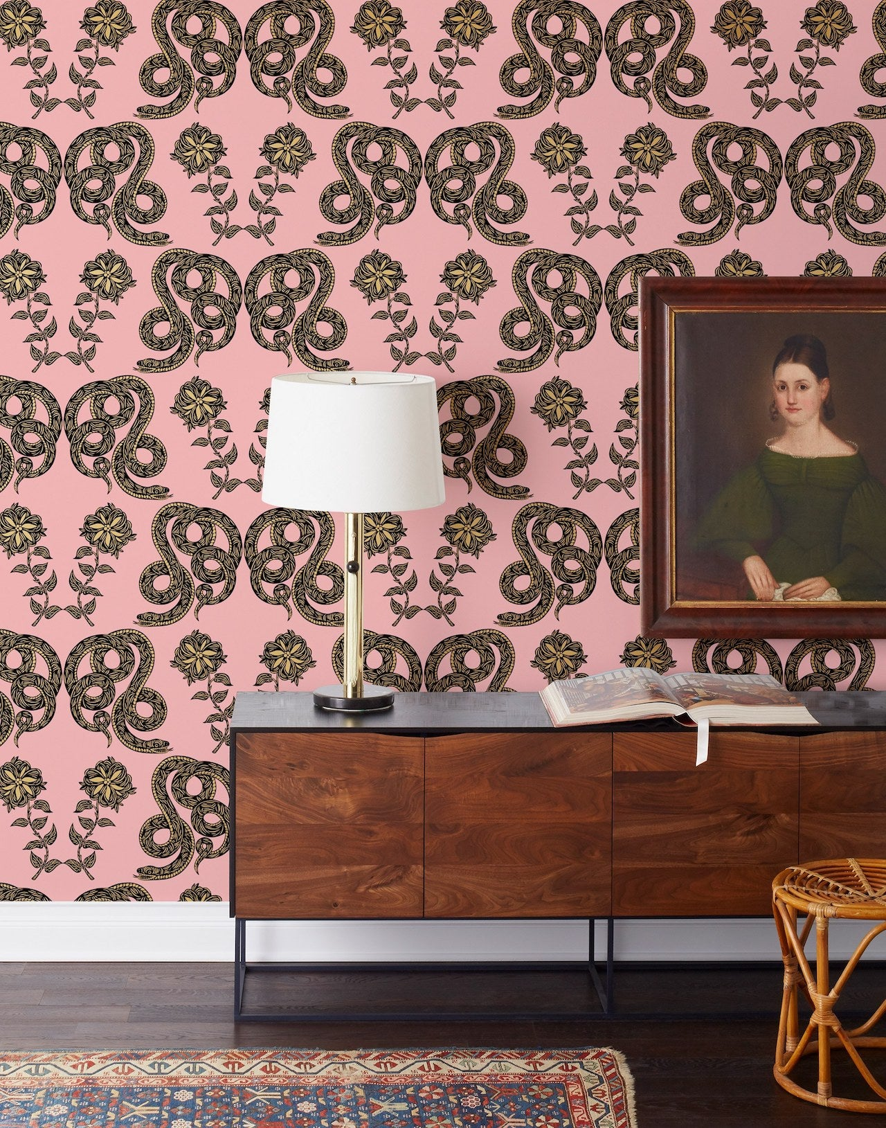 Pattern Players: PATCH NYC | Serpentine Punch wallpaper | Hygge & West