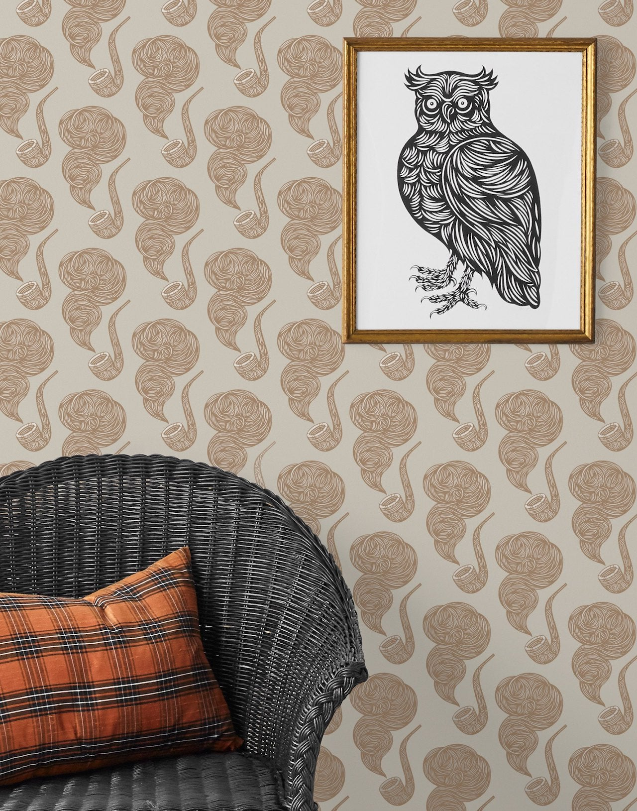 Pattern Players: PATCH NYC | The Gentleman French Gray wallpaper | Hygge & West