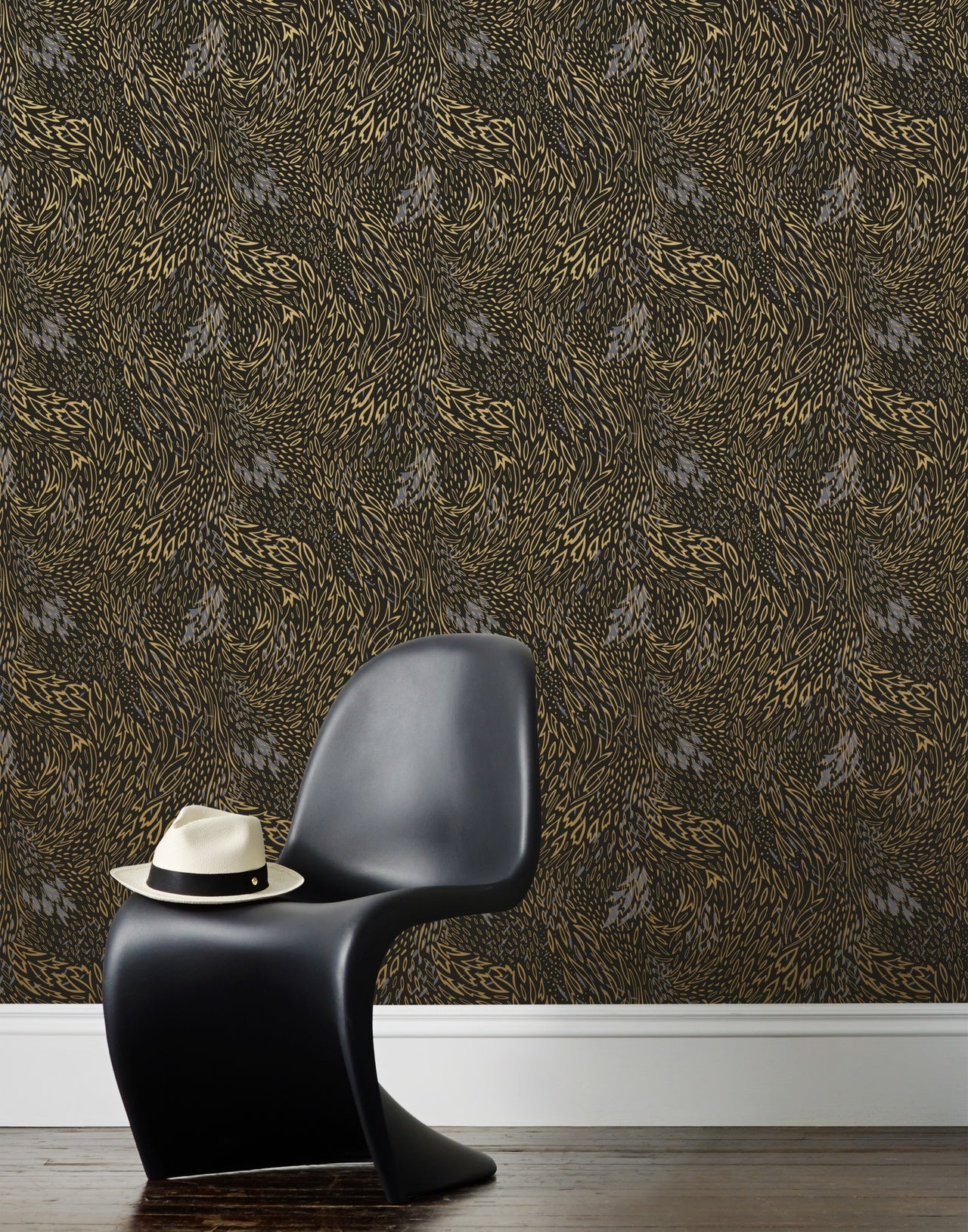 Forest Floor wallpaper in Ebony by Pattern Players for Hygge & West