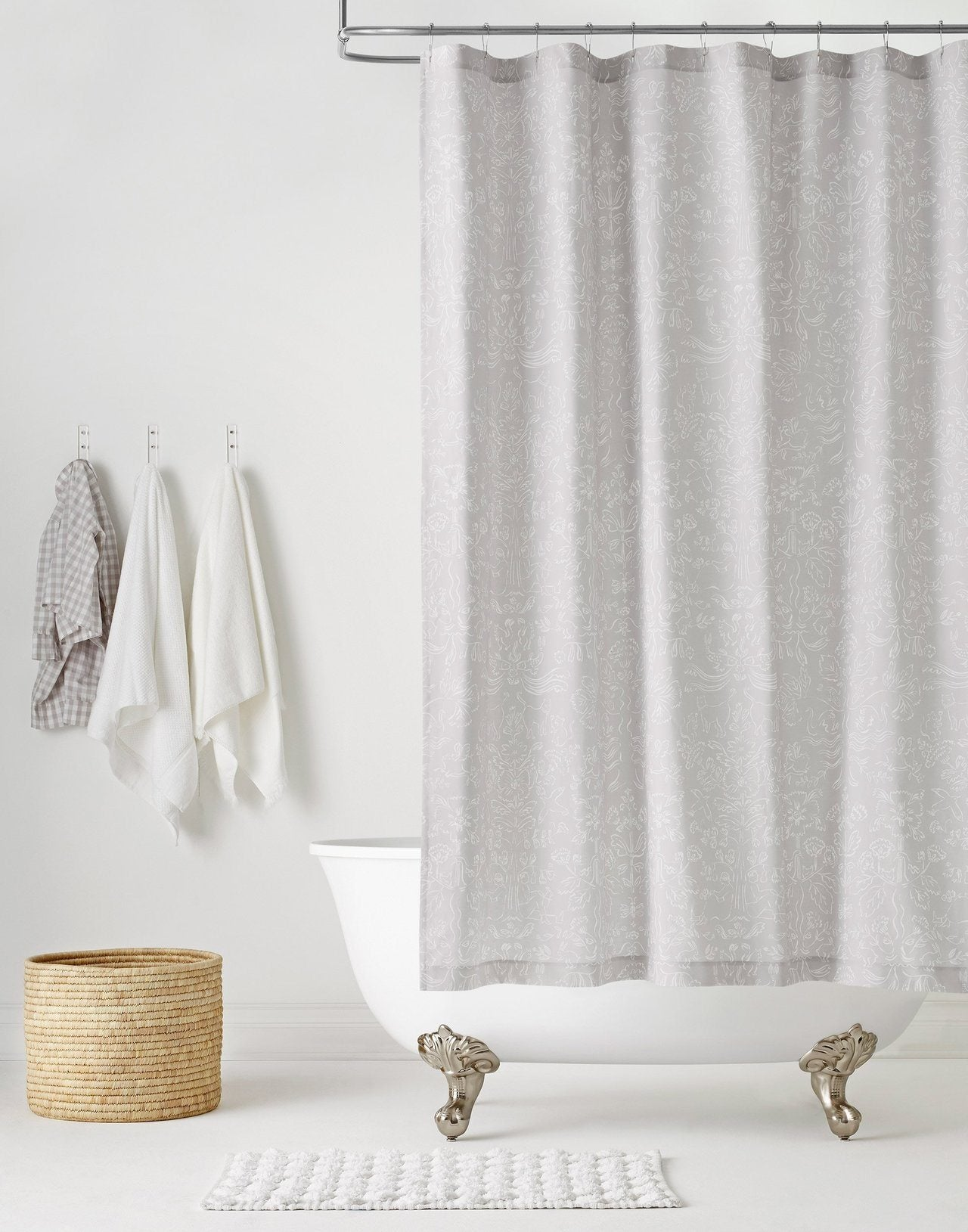 Pattern Players | Emily Isabella | Storyline Gray shower curtain | Hygge & West