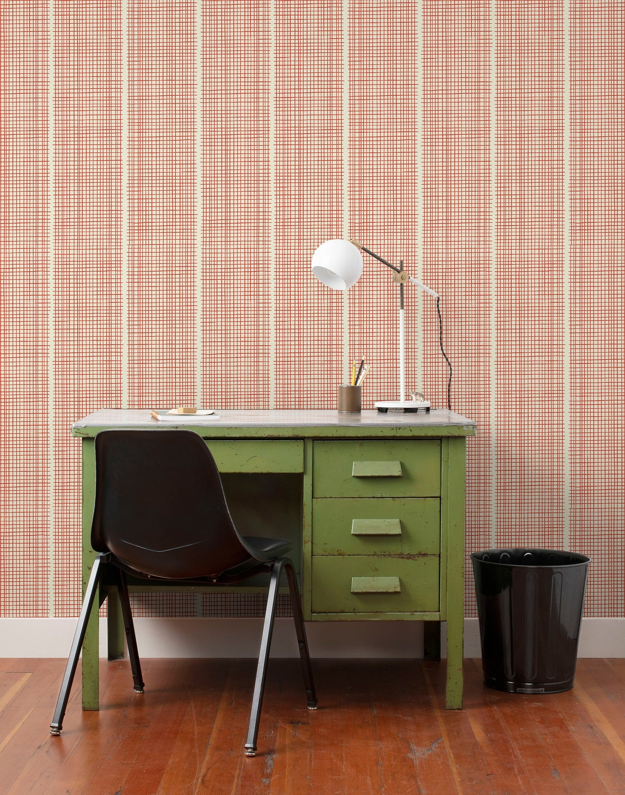 Woven wallpaper in Persimmon by Schoolhouse + Hygge & West