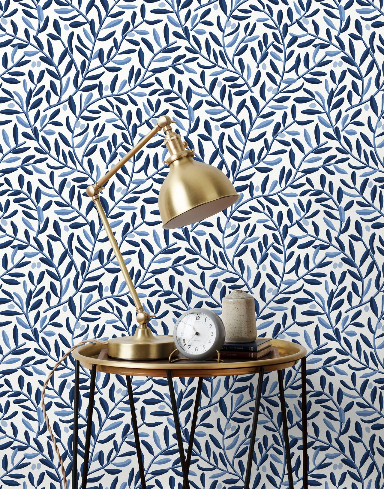 Olive Grove wallpaper in Blue by Schoolhouse + Hygge & West