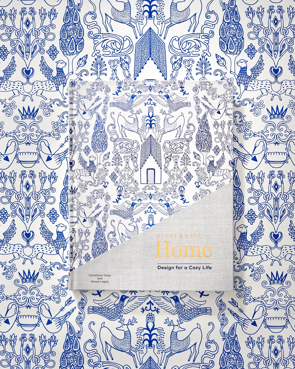 Hygge & West Home: Design for a Cozy Life | Nethercote (Blue) Wallpaper