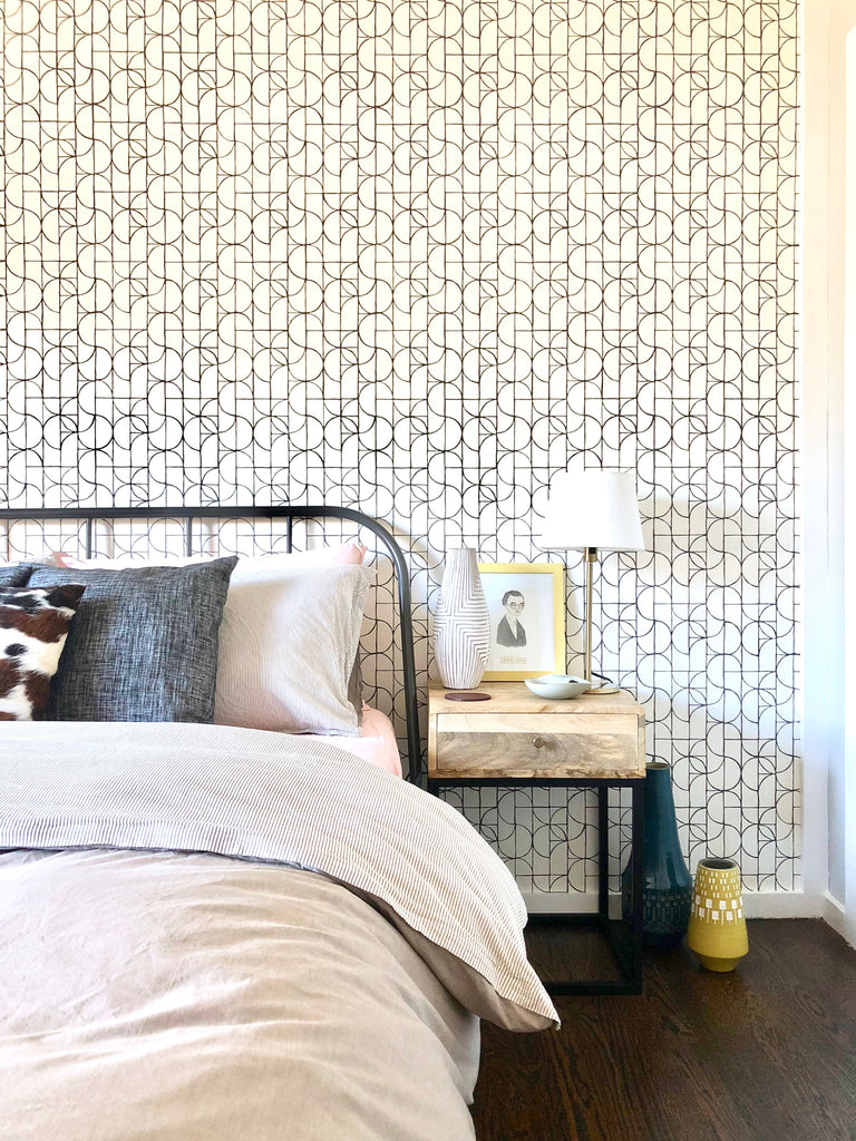 Slice Charcoal wallpaper | Heath Ceramics | Hygge & West