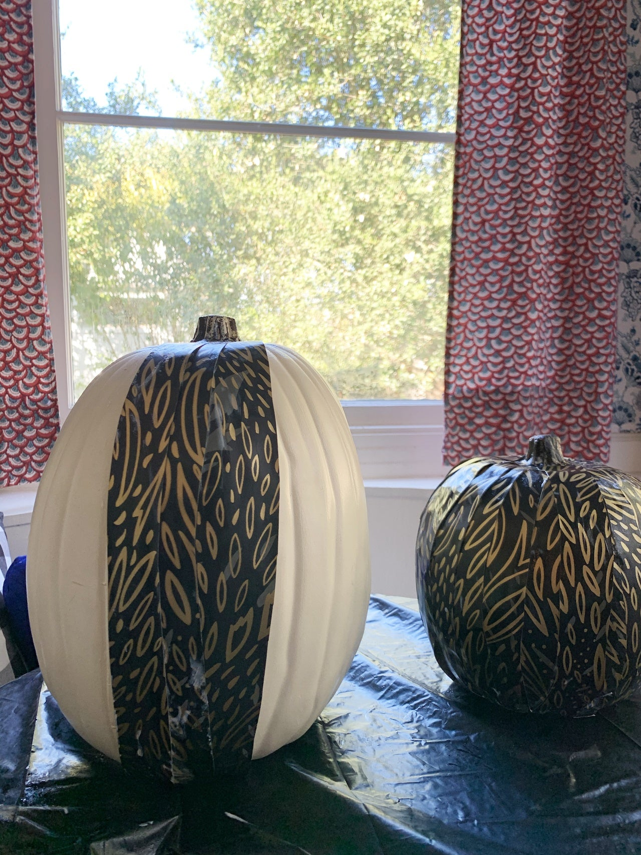 Wallpaper Pumpkins | Forest Floor (Ebony) | Hygge & West | Halloween Decorating