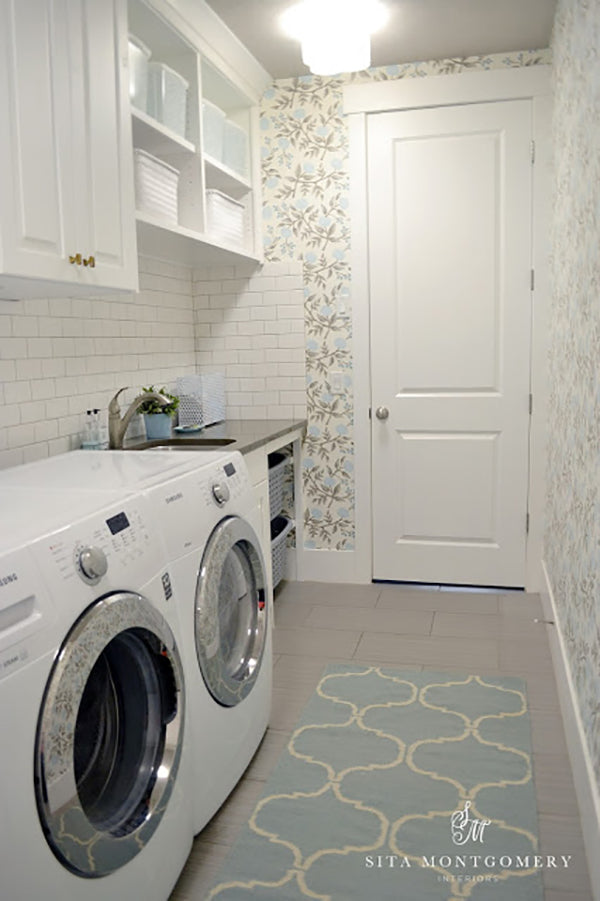 Before and After: Peonies Laundry Room