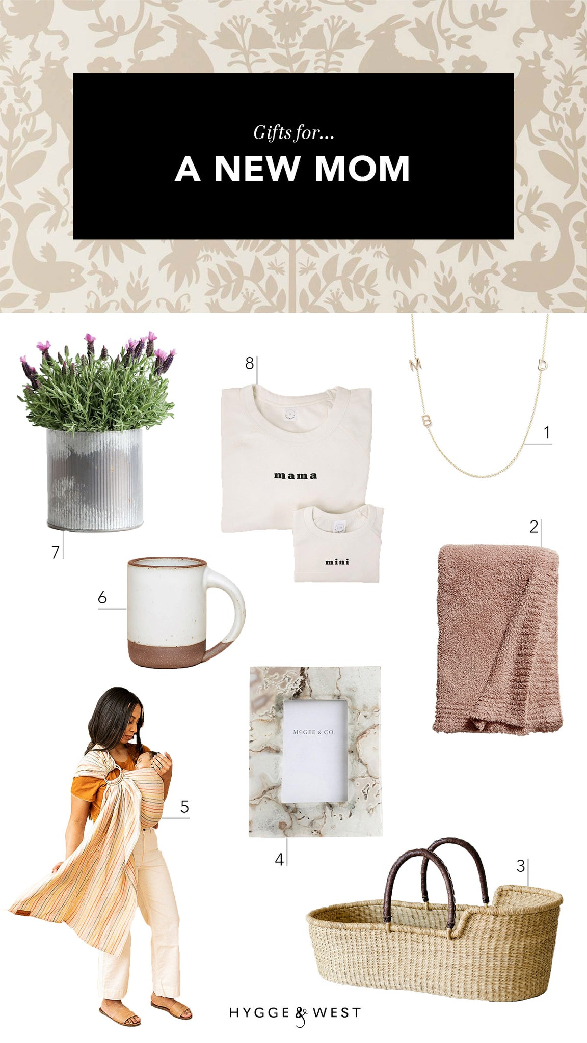 Mother's Day gift guide | Otomi Taupe wallpaper | Emily Isabella | Hygge & West