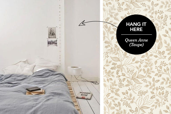 Hang it Here: Queen Anne (Taupe)