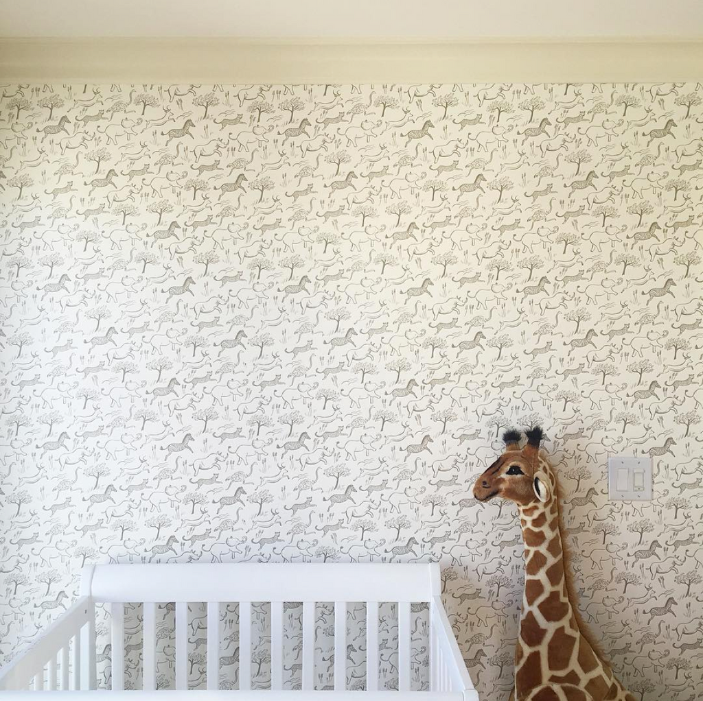 Safari Nursery: Before and During...