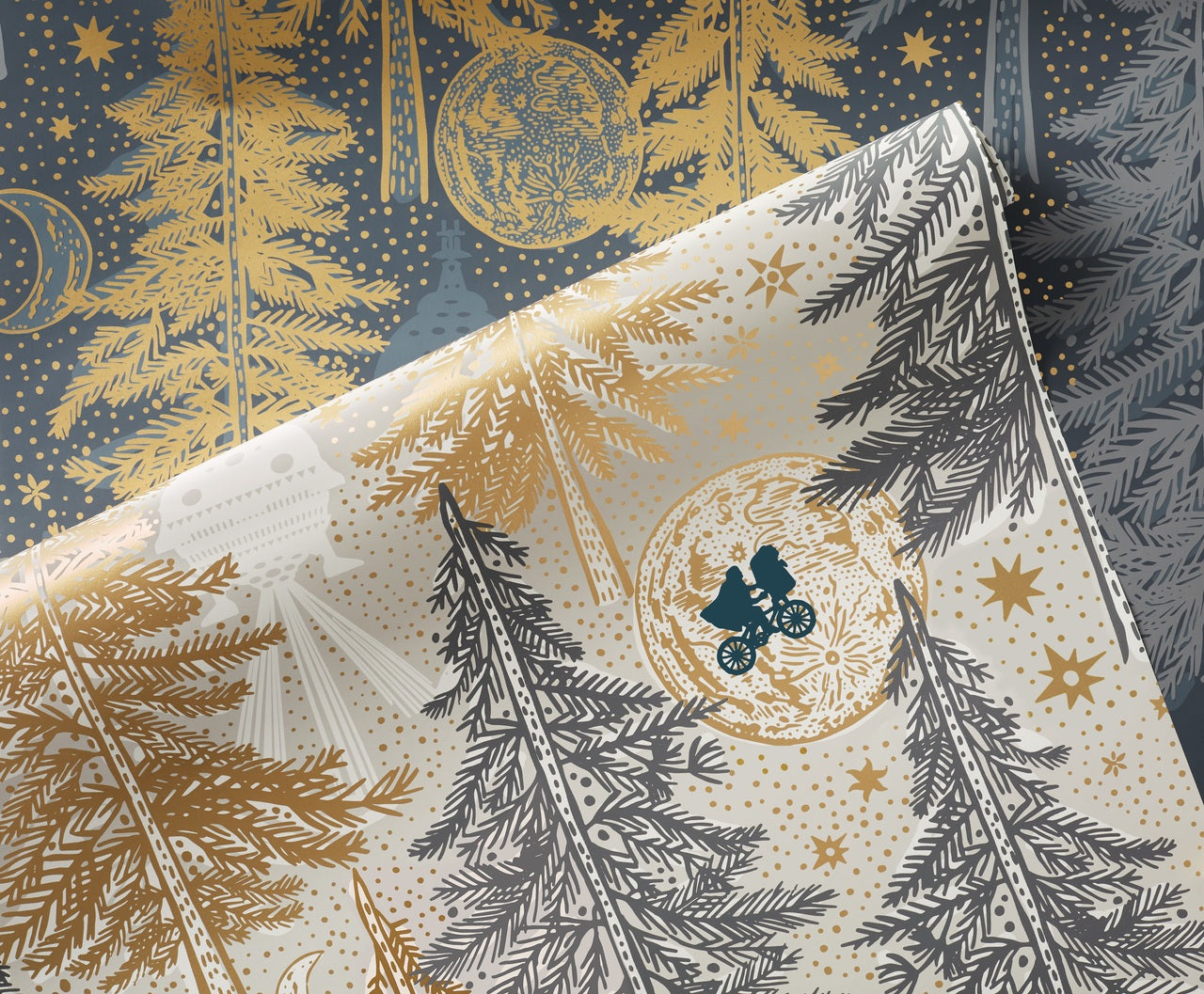 Be Good pattern inspired by E.T. the Extra Terrestrial   Universal + Hygge & West wallpaper and shower curtain collection
