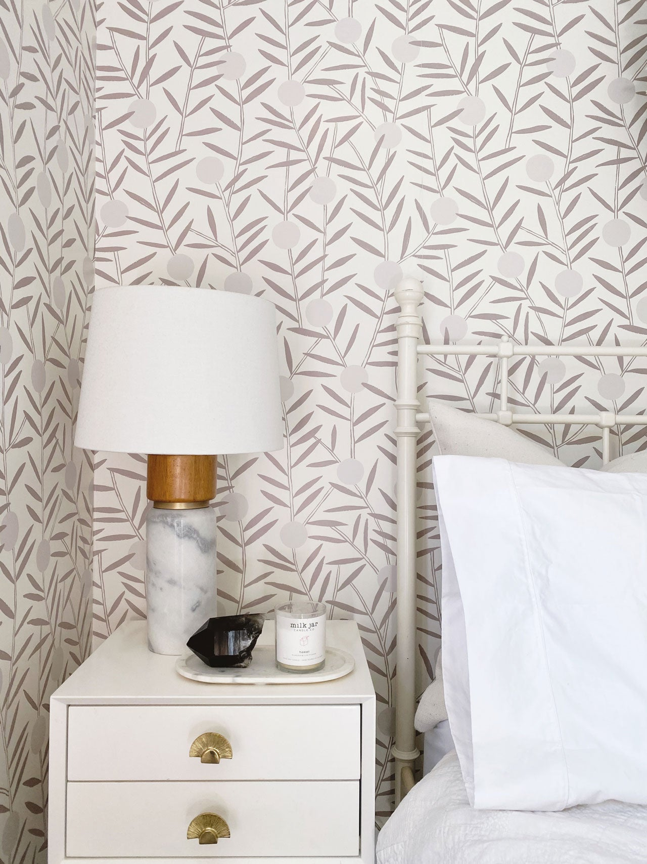 Alanna Dunn   Bloom (Taupe) Peel and Stick Guest Room   Hygge & West