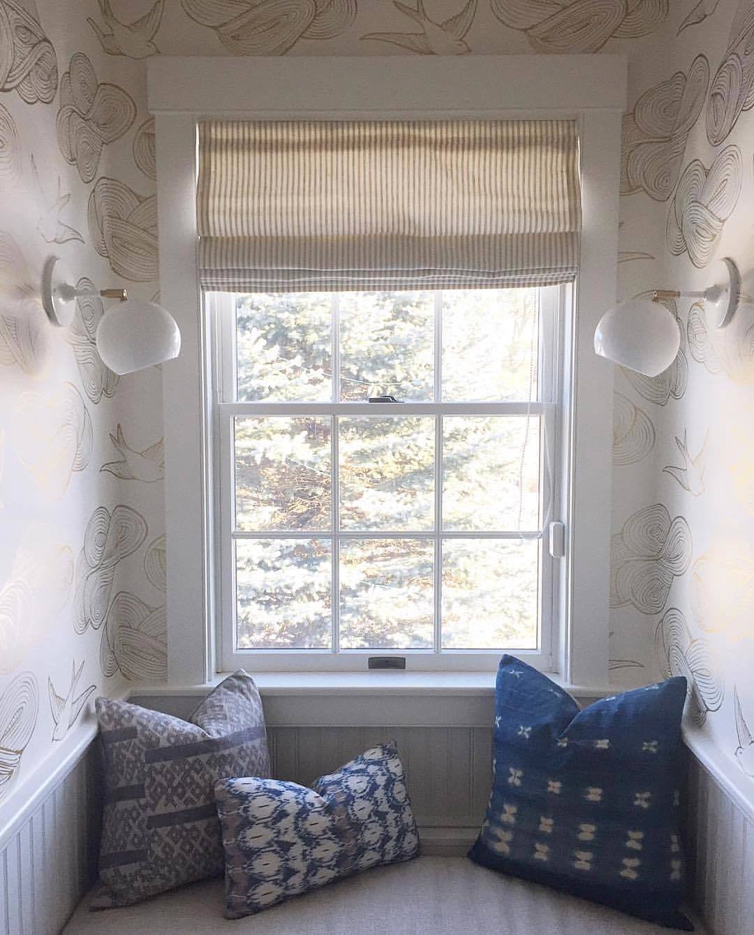 Wallpapered Nooks Roundup | Daydream Gold wallpaper | Julia Rothman | Hygge & West