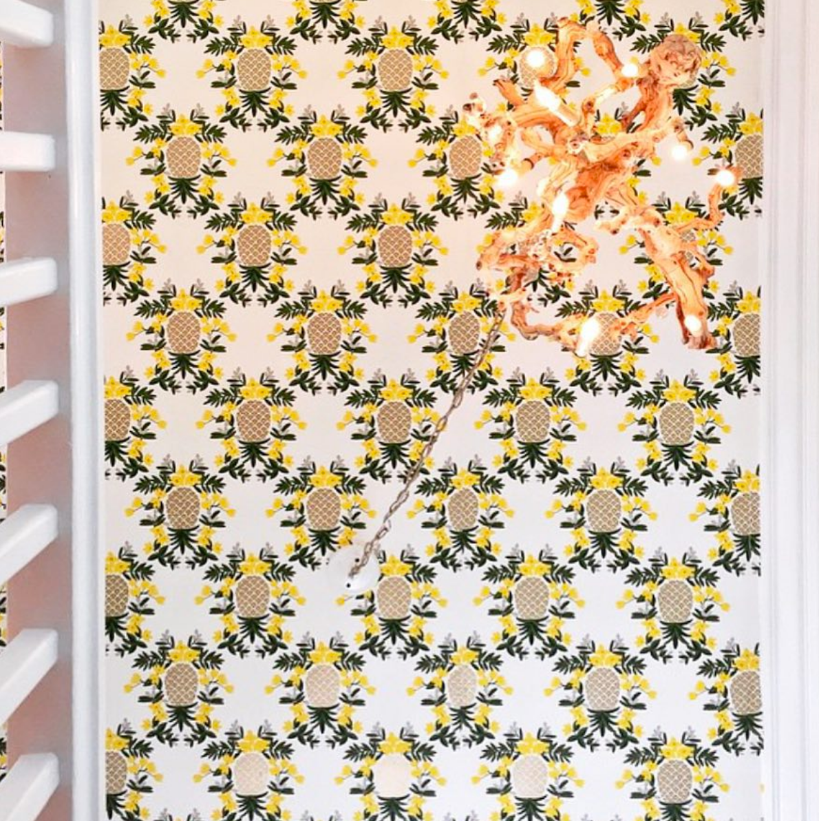 Best Wallpapers for a Ceiling Roundup | Pineapples (Yellow)