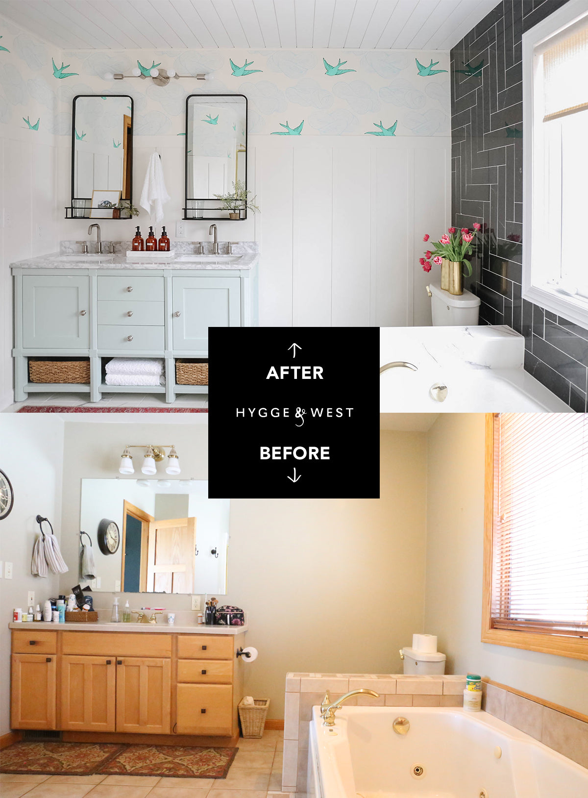 Daydream (Green) Bathroom Before and After