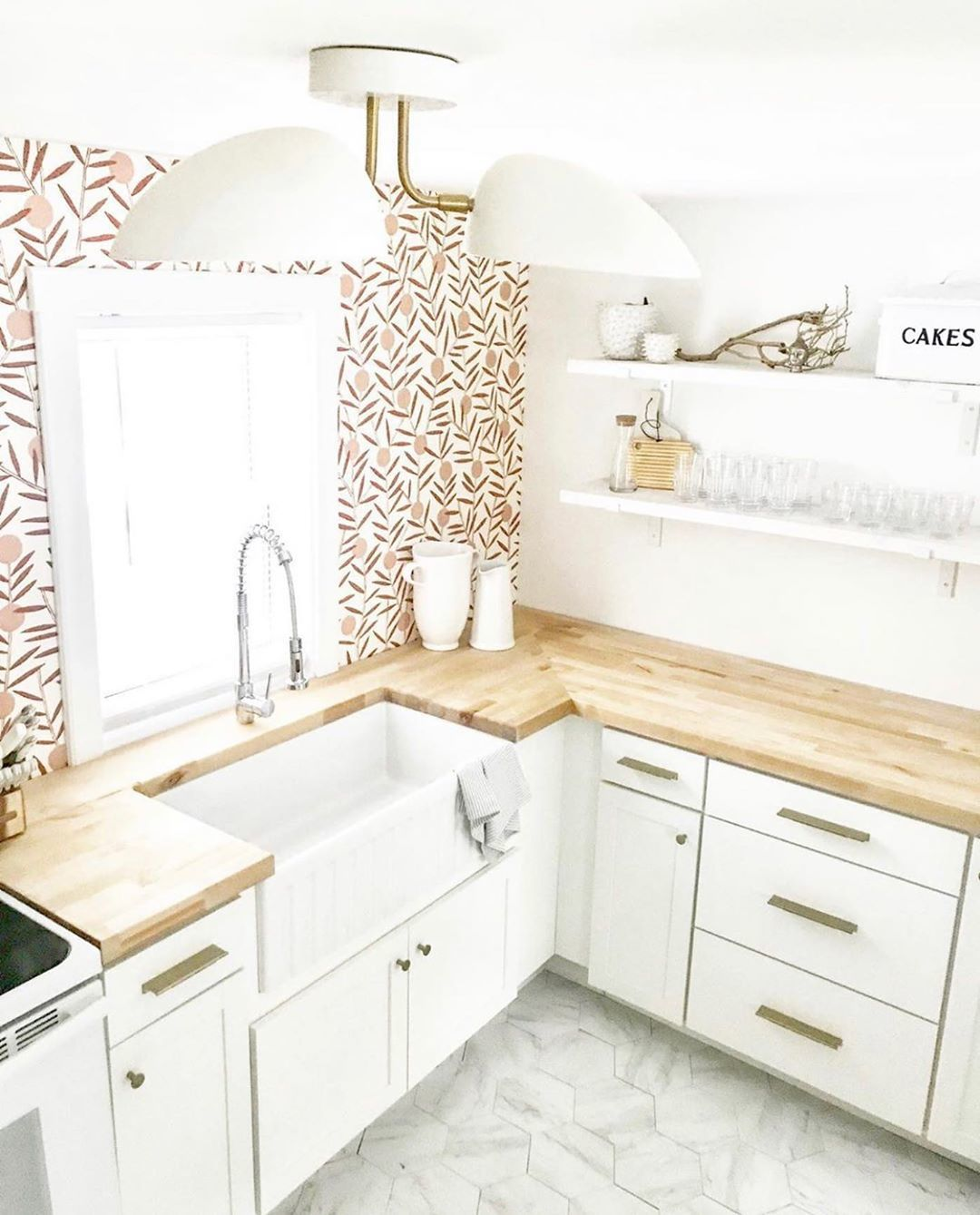 Our Favorite Patterns for the Kitchen | Bloom Dusty Rose wallpaper | Emily Isabella | Hygge & West