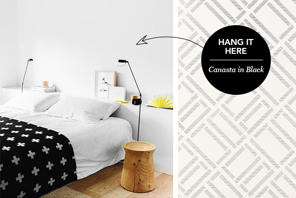 Hang it Here: Canasta in Black