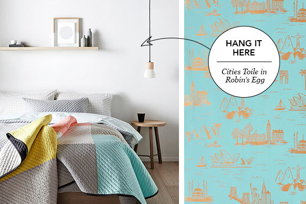 Hang it Here: Cities Toile