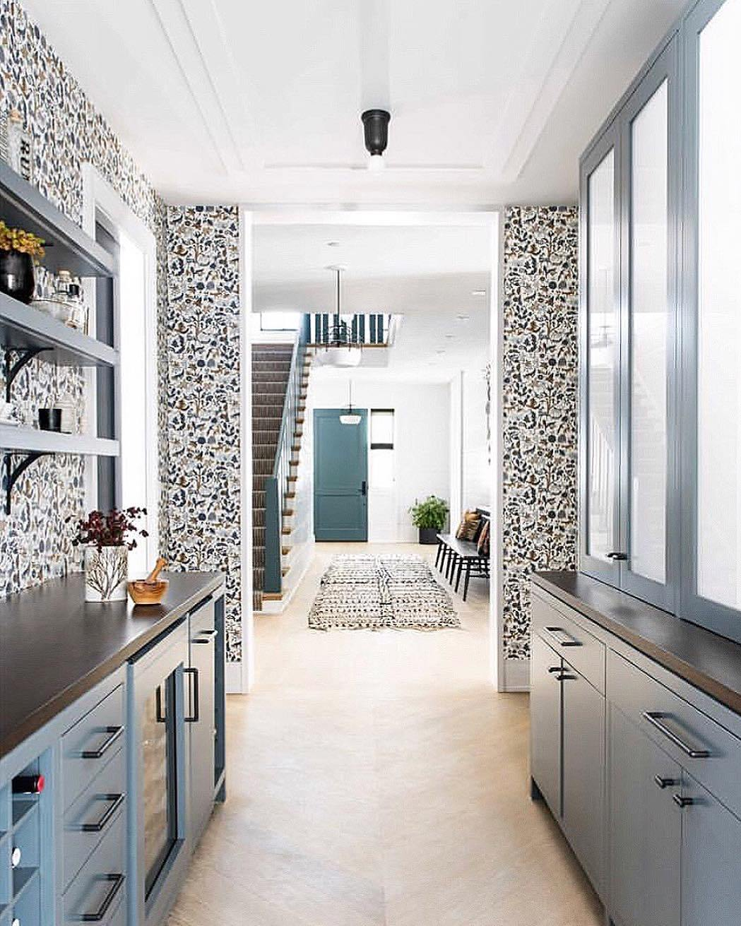Our Favorite Patterns for the Kitchen | Foret Charcoal wallpaper | Julia Rothman | Hygge & West