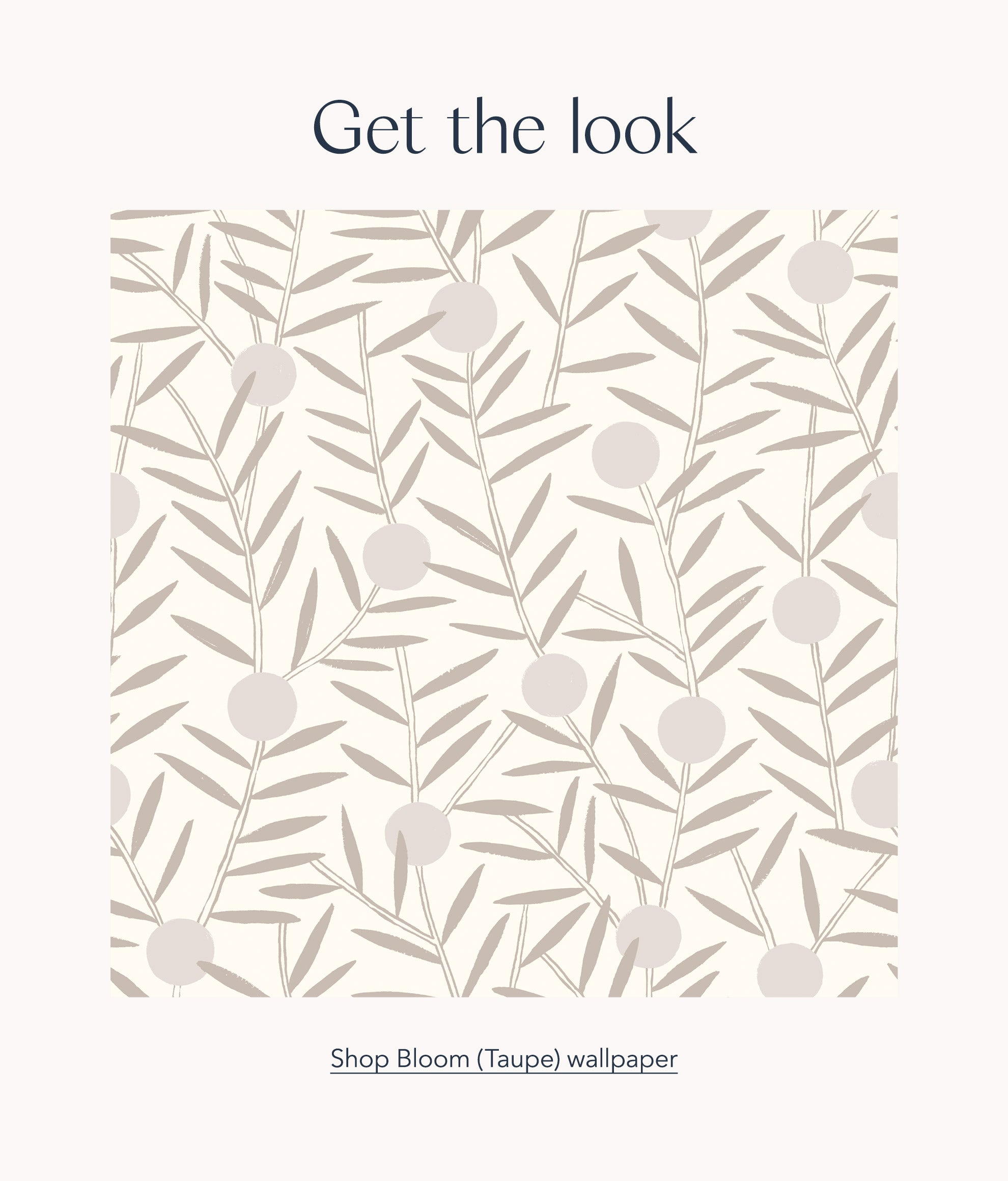 Get the look: Shop Bloom (Taupe) wallpaper