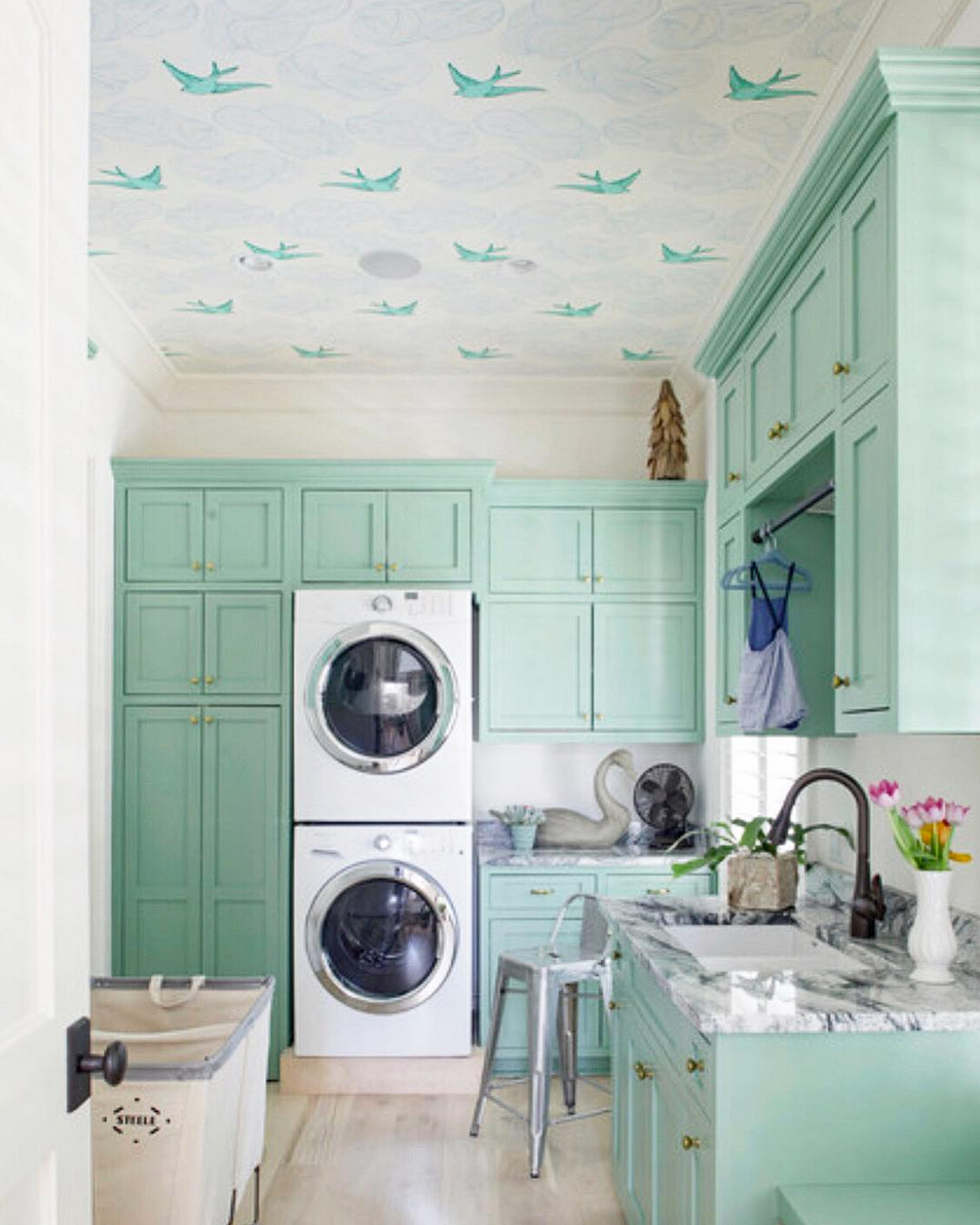 Hygge & West Top Nine | Daydream (Green) Laundry Room
