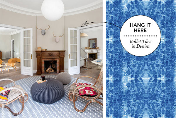 Hang it Here: Ballet in Denim