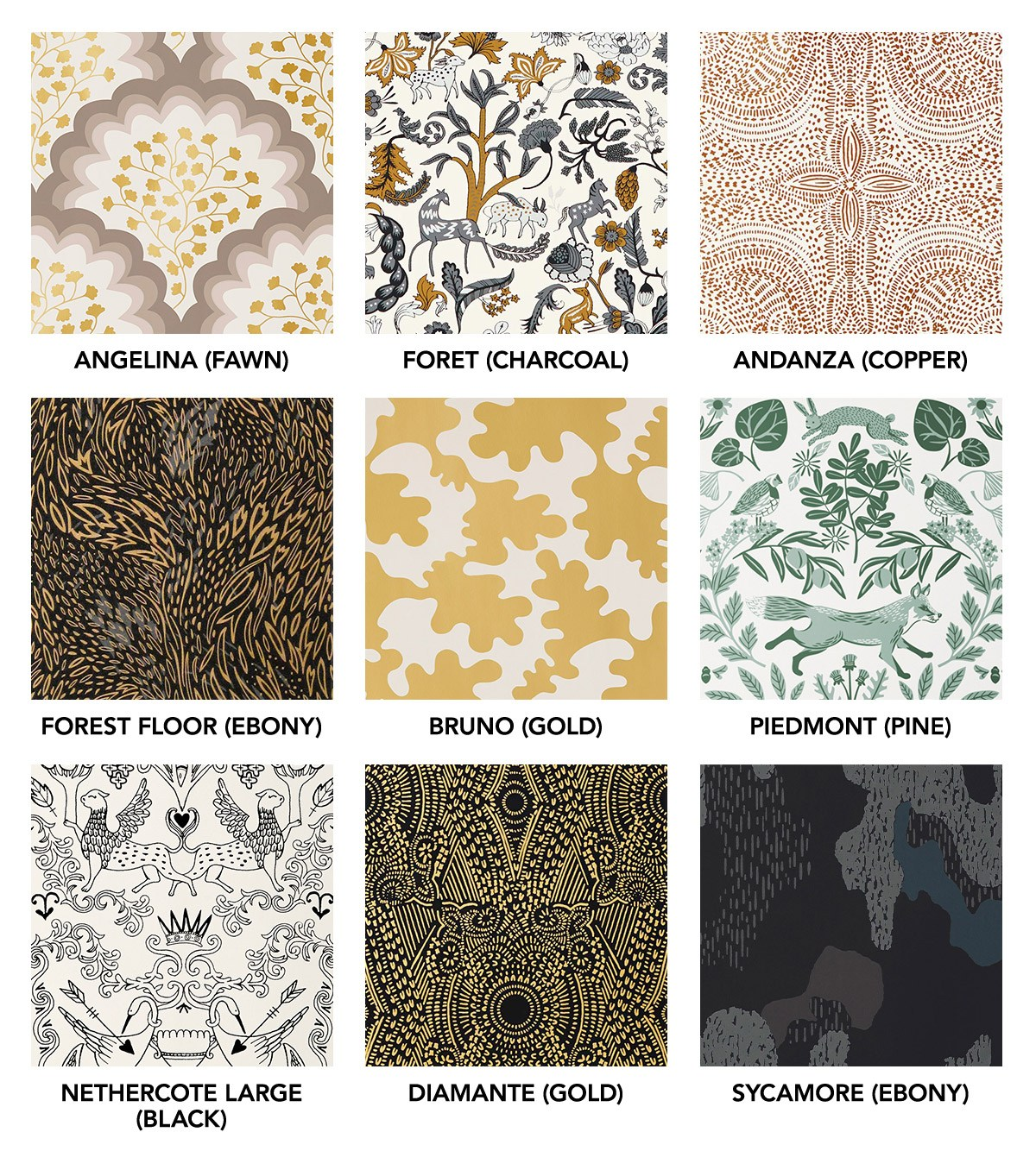 Fall in Love: Our Favorite Patterns for Fall Roundup | modern wallpaper | Hygge & West