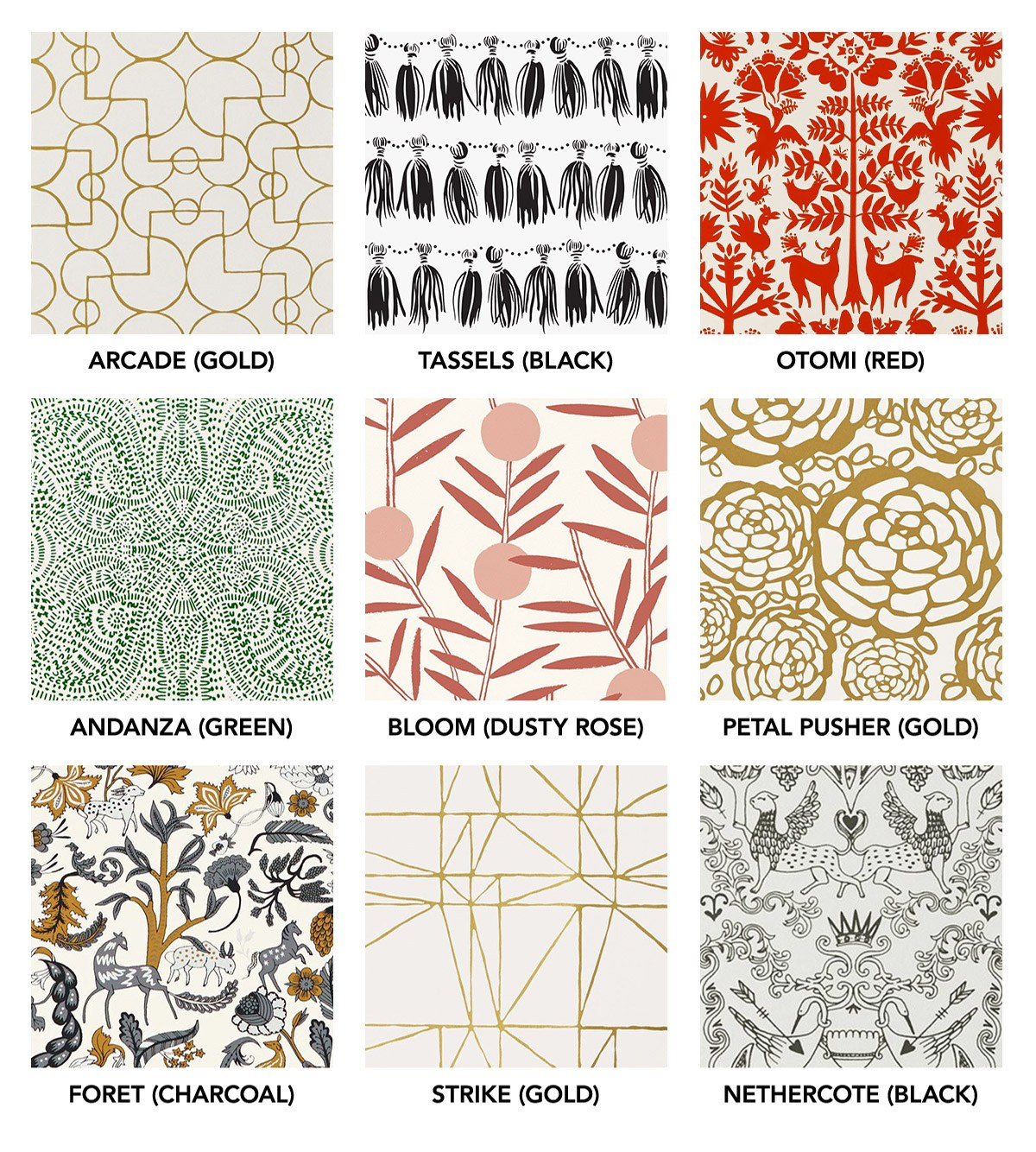 Our Favorite Patterns for the Kitchen | modern wallpaper, bedding, shower curtains | Hygge & West