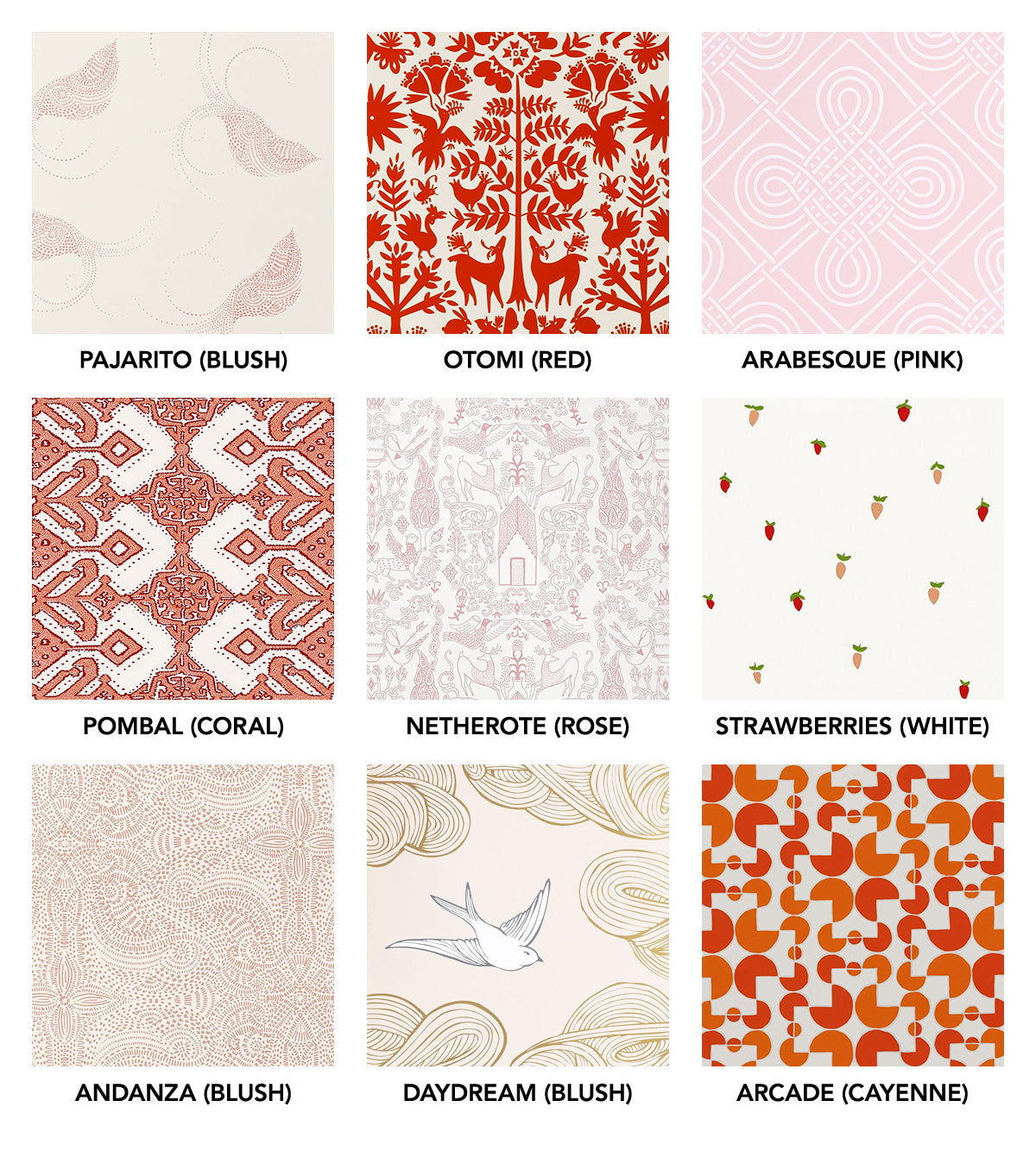 Red and pink wallpapers | Hygge & West