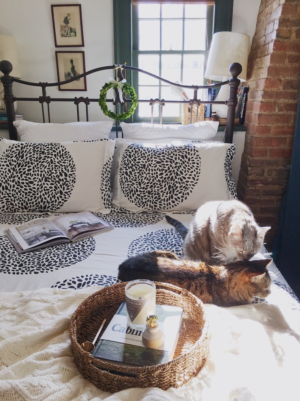 Take Your Dog to Work Day | Topiary White bedding | Wit & Delight | Hygge & West