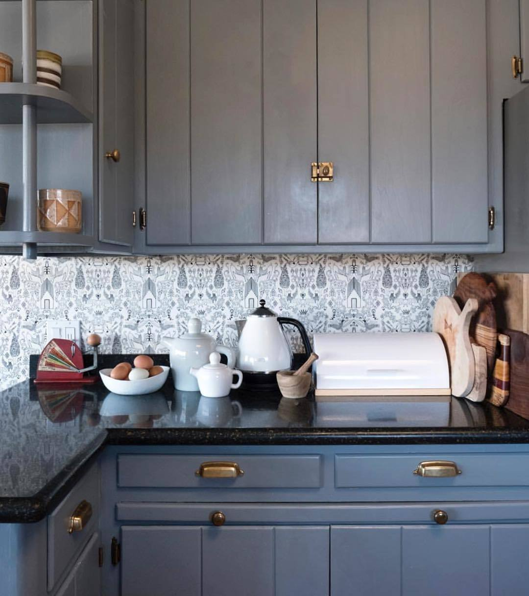 Our Favorite Patterns for the Kitchen | Nethercote Black wallpaper | Julia Rothman | Hygge & West
