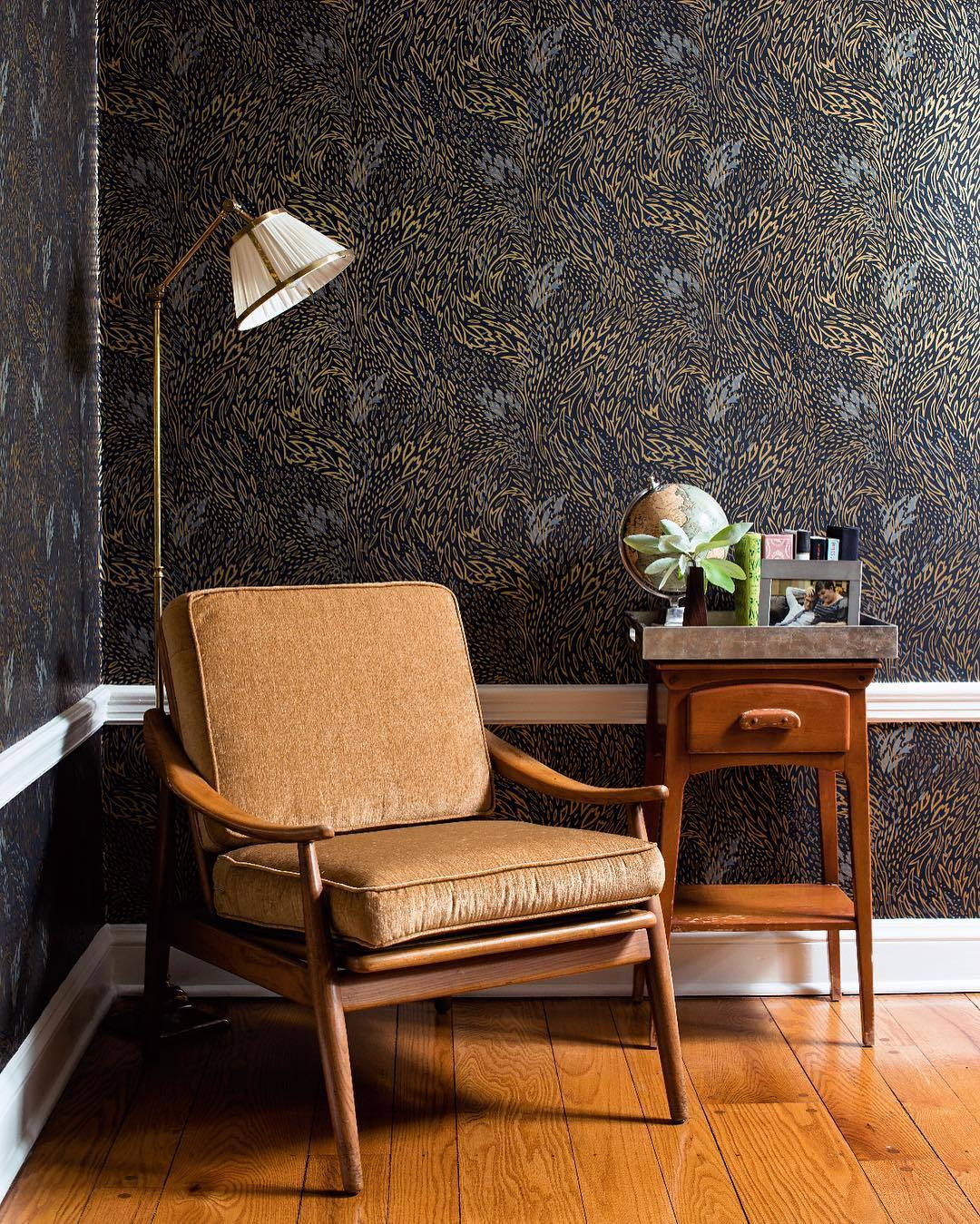 Bold Patterns | Forest Floor Ebony wallpaper | Pattern People | Hygge & West
