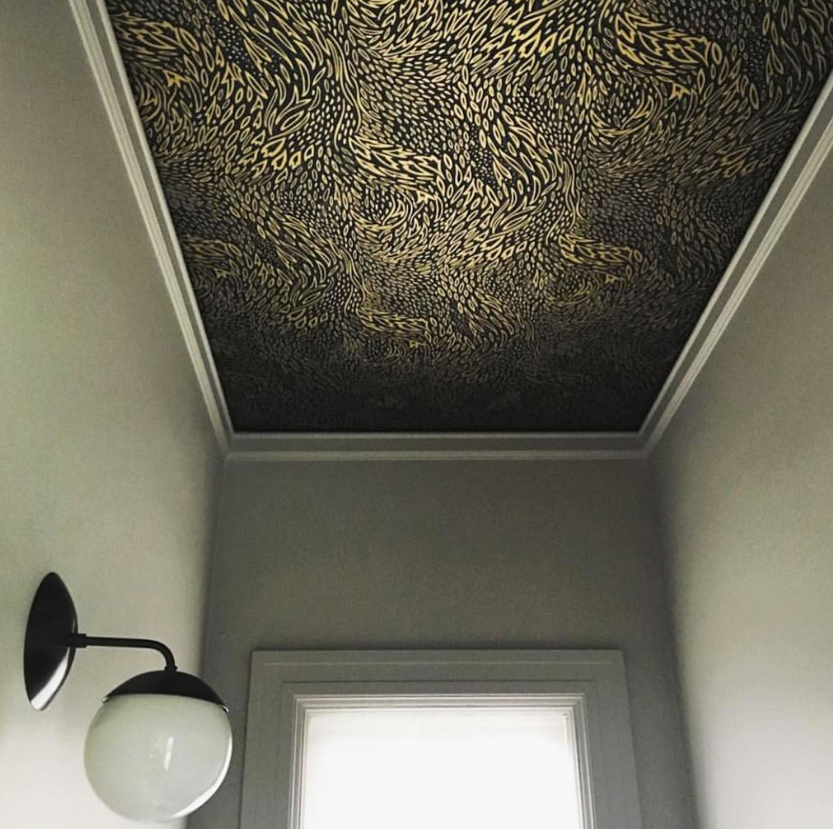 Best Wallpapers for a Ceiling Roundup | Forest Floor (Ebony)