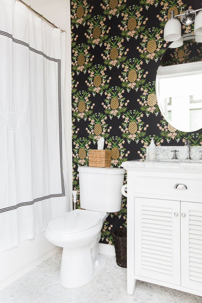 Pineapple Ebony wallpaper | Rifle Paper Co. | Hygge & West