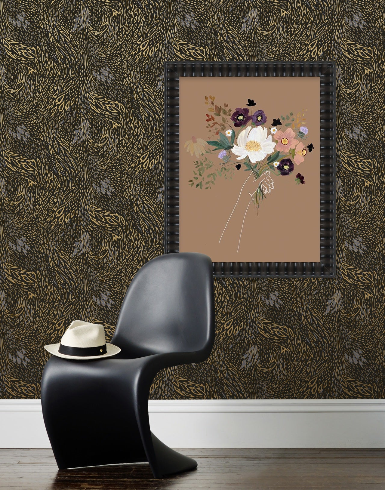 Artfully Paired | how to pair art wallpaper and art | Hygge & West