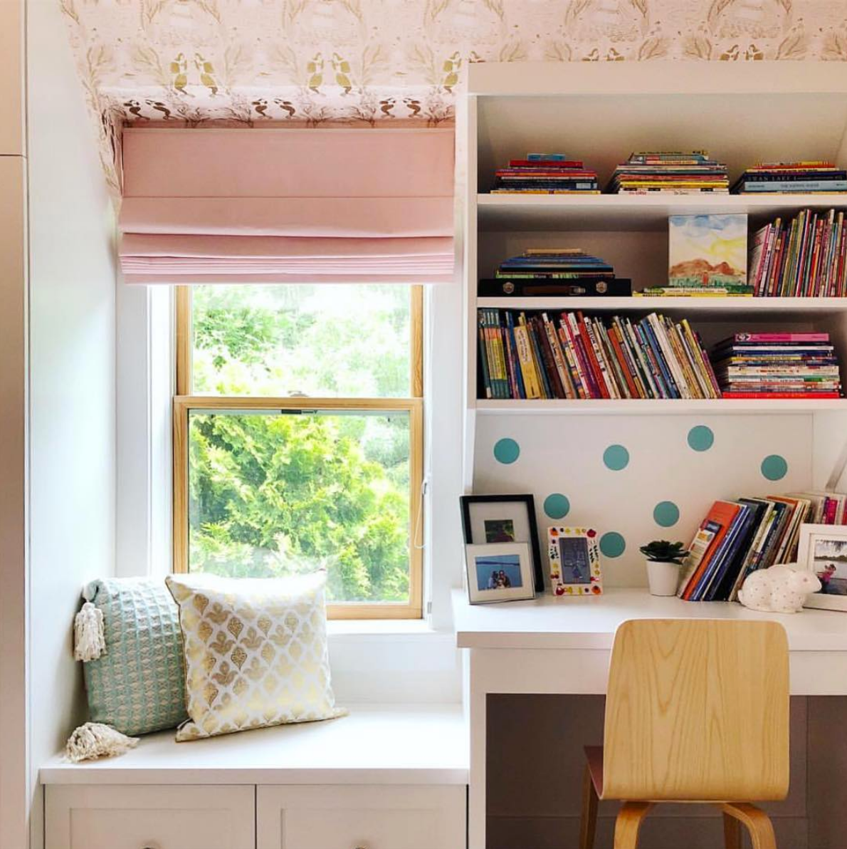 Best Wallpapers for a Ceiling Roundup | Mermaids (Shell Pink)