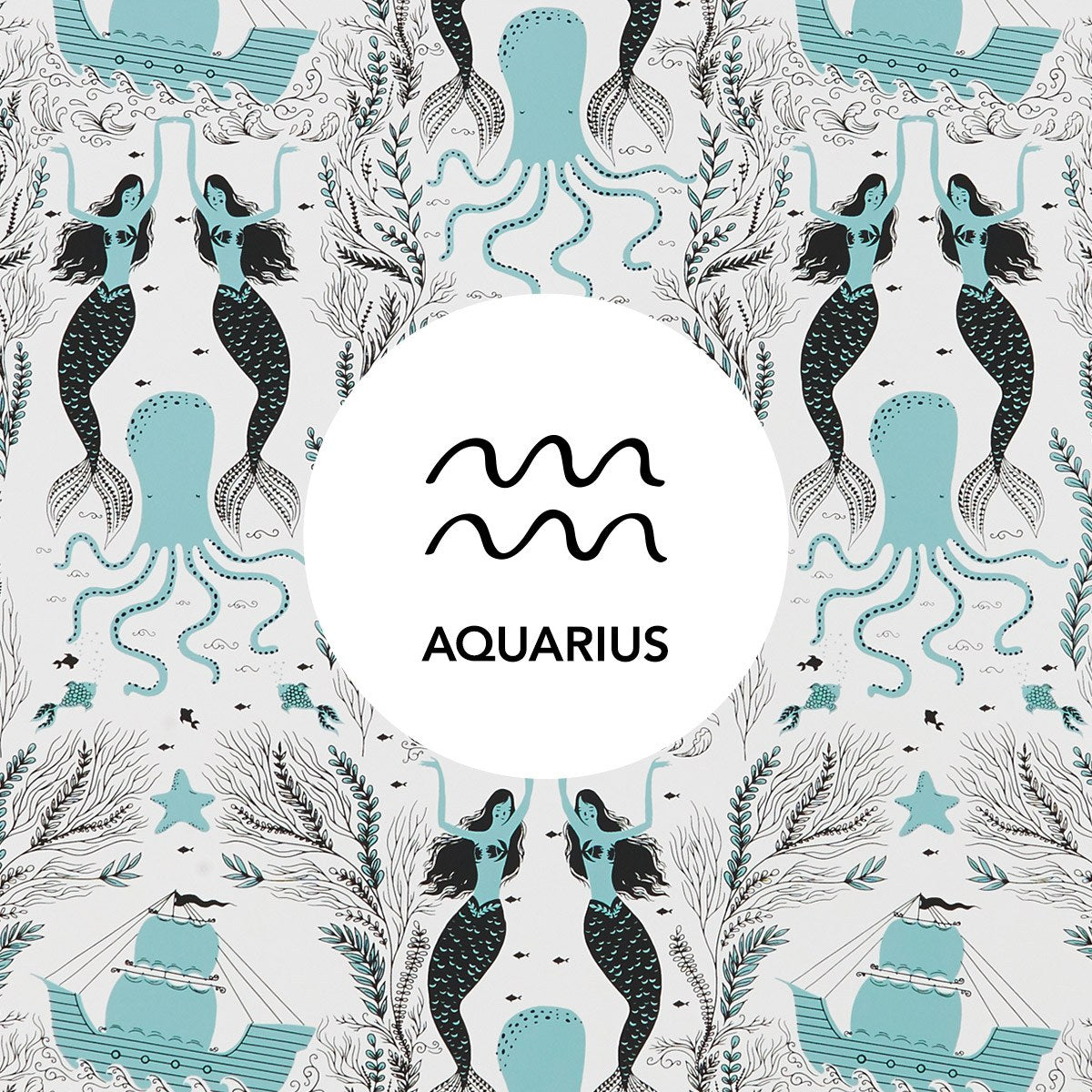 Aquarius | Mermaids Ocean wallpaper | Dinara Mirtalipova | Hygge & West