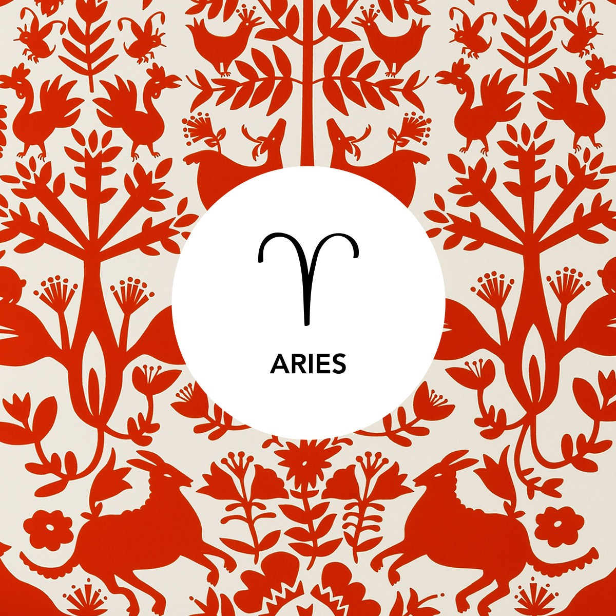 Aries | Otomi Red wallpaper | Emily Isabella | Hygge & West