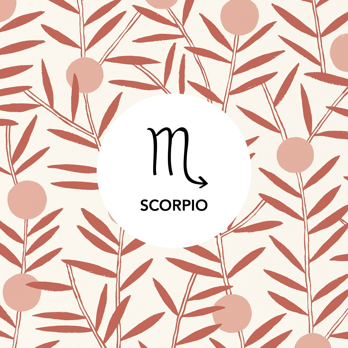 Scorpio | Bloom Dusty Rose wallpaper | Emily Isabella | Hygge & West