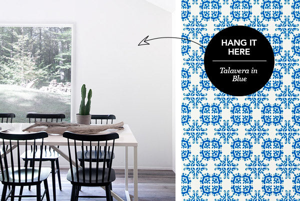 Hang it Here: Talavera in Blue