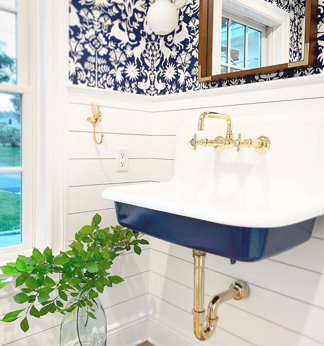 Otomi Navy wallpaper | Emily Isabella | Hygge & West